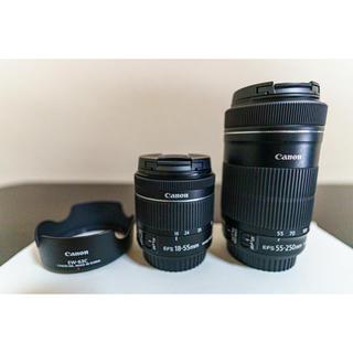 Canon - Canonレンズ【2本セット&レンズフード】APS-C機専用