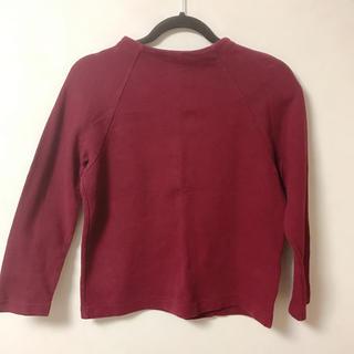 ハニーズ(HONEYS)のワインレッド ロングTシャツ 赤 カットソー(カットソー(長袖/七分))