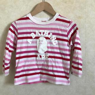 アベイシングエイプ(A BATHING APE)のAPE KIDS ロンT 110サイズ(Tシャツ/カットソー)