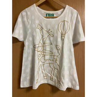 フラボア(FRAPBOIS)のFRABOIS ZOO キリンTシャツ(レディース)(Tシャツ(半袖/袖なし))