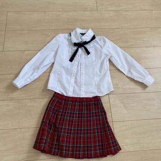 コムサイズム(COMME CA ISM)の女の子用 ジャケット スカート ブラウスのセット(ドレス/フォーマル)