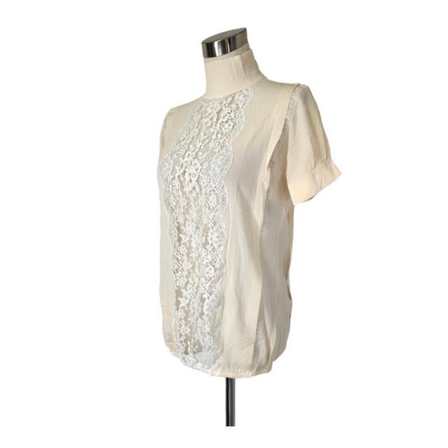 DOLCE&GABBANA(ドルチェアンドガッバーナ)の専用♡DOLCE&GABBANAセット シルクカットソー&レースプリーツスカート レディースのトップス(カットソー(半袖/袖なし))の商品写真