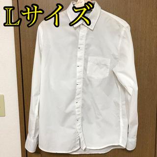 イッカ(ikka)のikka 長袖 ボタンダウンシャツ ホワイト Lサイズ(シャツ)