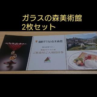 箱根ガラスの森美術館ご飲食付招待券 2枚