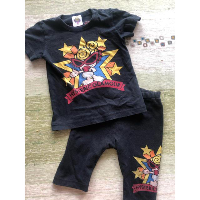 HYSTERIC MINI(ヒステリックミニ)のヒス半袖セット キッズ/ベビー/マタニティのキッズ服男の子用(90cm~)(Tシャツ/カットソー)の商品写真