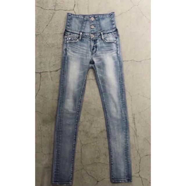 GYDA(ジェイダ)の完売品 GYDA basicハイウエストスキニーデニムパンツ M アイスブルー レディースのパンツ(デニム/ジーンズ)の商品写真