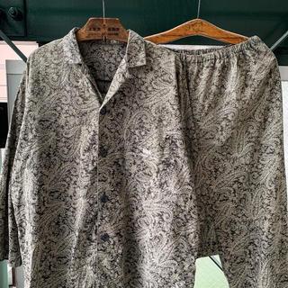 ART VINTAGE - 90s 希少 ペイズリー柄 パジャマセットアップ パジャマシャツ イージーパンツ