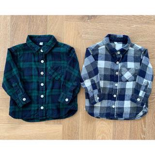ムジルシリョウヒン(MUJI (無印良品))の無印良品 チェックネルシャツ2枚(シャツ/カットソー)