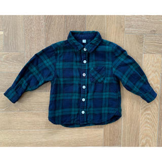 ムジルシリョウヒン(MUJI (無印良品))の無印良品 チェックネルシャツ 80(シャツ/カットソー)