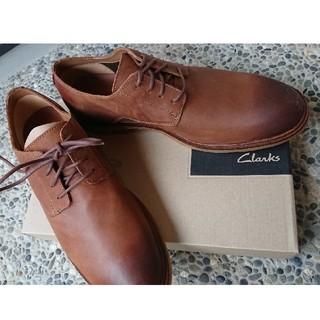 Clarks - 未使用 Clarks クラークス 本革 ビジネス シューズ ブラウン