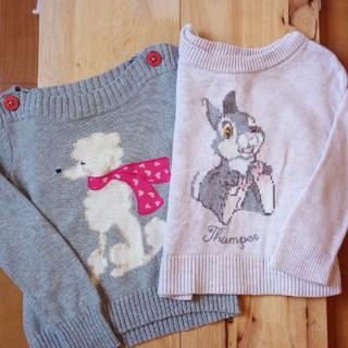 ベビーギャップ(babyGAP)のセーター♡2枚セット♡90(ニット)