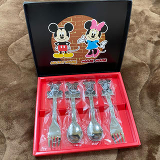 ディズニー(Disney)のミッキー ミニー スプーン&フォークセット(スプーン/フォーク)