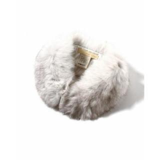IENA SLOBE - イエナ スローブ ファー ティペット 襟巻き マフラー スヌード 白 ホワイト