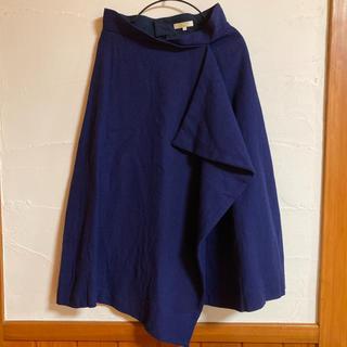 ビームス(BEAMS)のBEAMS 麻混ロングスカート M ブルー(ロングスカート)