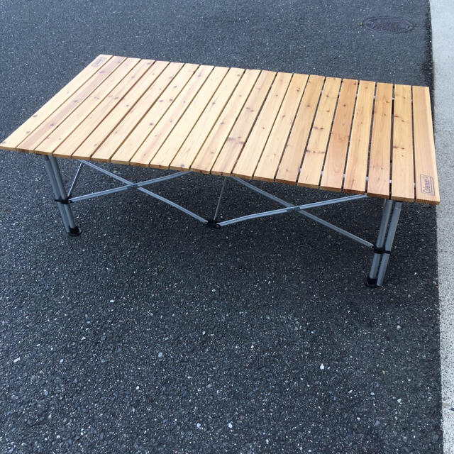 Coleman(コールマン)のウッドロールテーブル 120 希少❗️ インテリア/住まい/日用品の机/テーブル(アウトドアテーブル)の商品写真