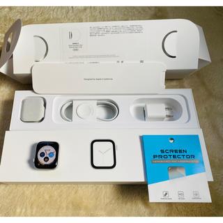 アップルウォッチ(Apple Watch)の【美品】apple watch series4 40mm アルミニウム シルバー(その他)