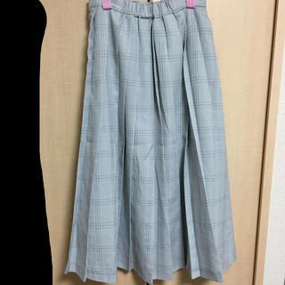 merlot - チェックロングスカート