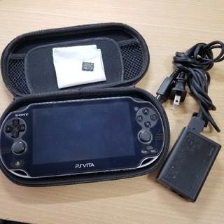 プレイステーション(PlayStation)のPS VITA PCH-1000本体、 ケース、メモリーカード、充電ケーブル(携帯用ゲーム機本体)