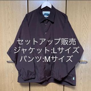 BEAMS - SSZ SHAKA COACH No1874D ブラウン セットアップ 20FW
