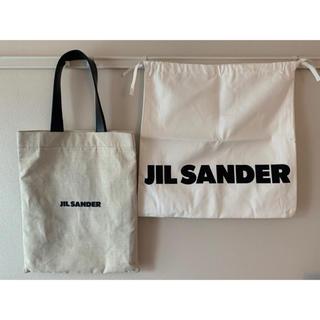 ジルサンダー(Jil Sander)のジルサンダー ロゴ トートバッグ キャンバス jil sander(トートバッグ)