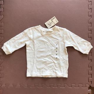 ムジルシリョウヒン(MUJI (無印良品))の無印良品 甘撚り天竺編み長袖Tシャツ 80(シャツ/カットソー)