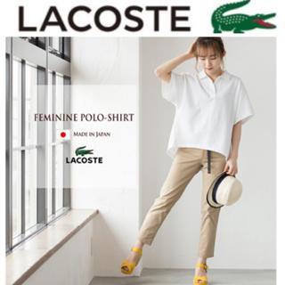 ラコステ(LACOSTE)の新品 ラコステ ハーフスリーブ フェミニン ポロシャツ(シャツ/ブラウス(半袖/袖なし))