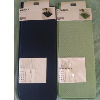 IKEA - 新品♪イケア☘IKEA ニーショリド 食器 水切り マット ×2枚☘青と緑色