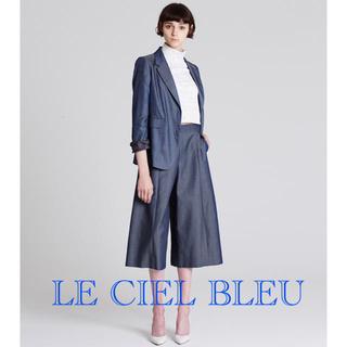 ルシェルブルー(LE CIEL BLEU)の美品■ルシェルブルー メランジクロップドトップス(カットソー(長袖/七分))