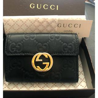Gucci - ナイトセール💫GUCCI キーケース シマ インターロッキング レザー GG