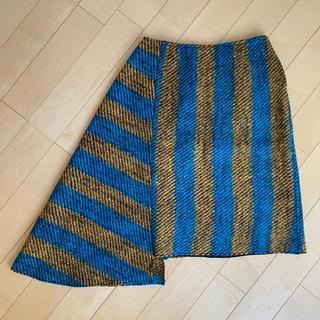 PRADA - PRADA アシンメトリー ウール S-Mサイズ スカート