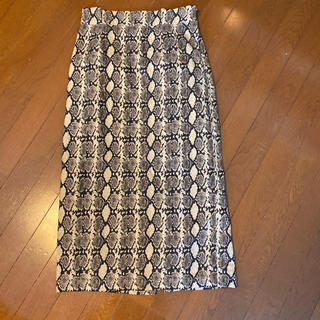 Mila Owen - 美品ミラオーウェンのパイソン柄ロングスカート サイズ1でM mile owen