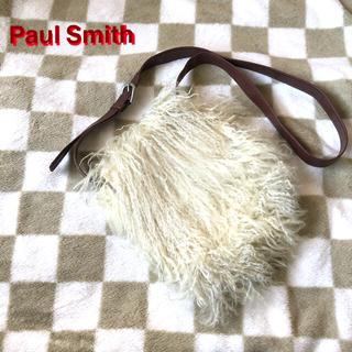 ポールスミス(Paul Smith)のPaul Smith ポールスミス 羊毛 & レザー レディースバッグ used(ショルダーバッグ)