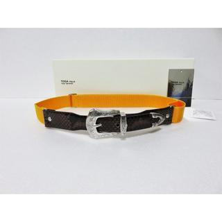 トーガ(TOGA)の新品 TOGA Leather nylon belt フリーサイズ(ベルト)