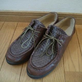 ジーナシス(JEANASIS)のJEANASIS ジーナシス チロリアンメッシュシューズ ブラウン(ローファー/革靴)