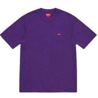 Supreme - supreme small box logo 紫 Lサイズ