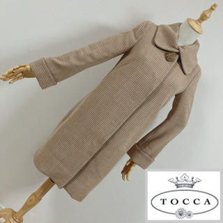 トッカ(TOCCA)のTOCCA トッカ ビジューボタン付ステンカラーコート(ロングコート)