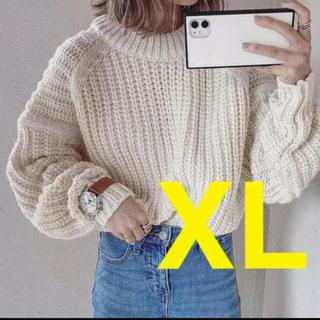 H&M - ◆完売◆H&M チャンキーニット リブニットラウンドネックセーター XLサイズ