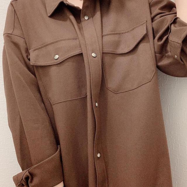 GU(ジーユー)のGU ダブルポケットワークシャツワンピース レディースのワンピース(ロングワンピース/マキシワンピース)の商品写真