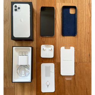 Apple - iPhone 11 Pro シルバー 256GB simフリー 純正ケース付き