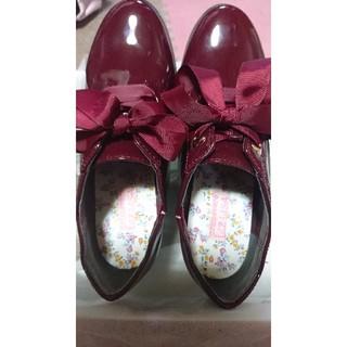 リズリサ(LIZ LISA)のリズリサ プリムヴェール おじ靴 ワインレッド(ローファー/革靴)