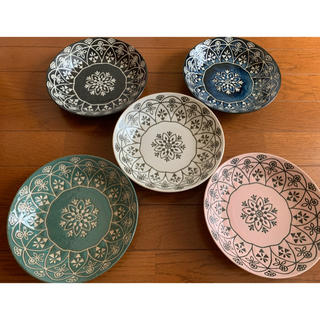 【Ramune様専用】モロッカン パスタカレー皿セット 5枚組 新品未使用(食器)