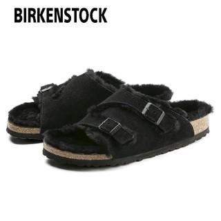 ビルケンシュトック(BIRKENSTOCK)のBIRKENSTOCK チューリッヒ ファーサンダル ボアサンダル ブラック 黒(サンダル)