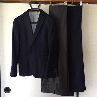 THE SUIT COMPANY - スーツセレクト ネイビー シャドー ヘリンボーン 2パンツ