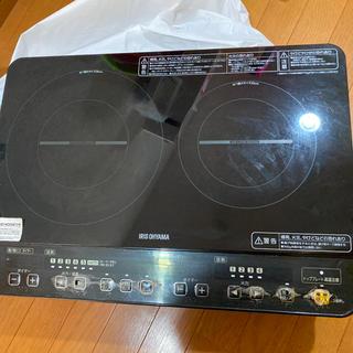 アイリスオーヤマ(アイリスオーヤマ)のIRIS IHK-W1S-B IHクッキングヒーター 2口 アイリスオーヤマ(調理機器)