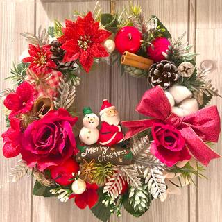 クリスマスリース/レッド/フラワーリース