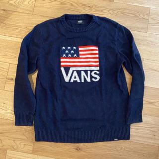 ヴァンズ(VANS)のVANS USA アメリカ国旗セーター ネイビー(スウェット)