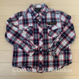 コムサイズム(COMME CA ISM)のCOMME CA ISM 110cm チェックシャツ(ブラウス)