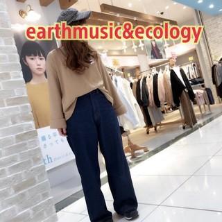 earth music & ecology - ワイドスリーブ  コーデュロイプルオーバー タグ付き未使用 ベージュ