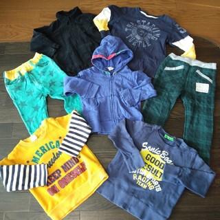 7着セット 95 トレーナー 上着 長袖  パーカー 子供服 ズボン パンツ (Tシャツ/カットソー)