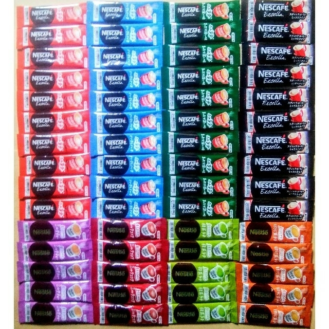 Nestle(ネスレ)のネスカフェスティックコーヒー8種60本 食品/飲料/酒の飲料(コーヒー)の商品写真